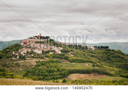 Photo of Famous Croatia City -  Motovun Istra