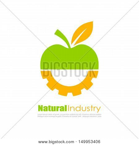 Abstract biotechnology logo vector illustration isolated on white background