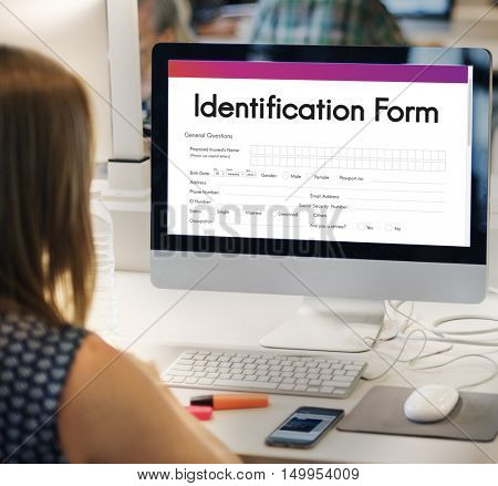 Identification Form ID Taxpayer Document Concept
