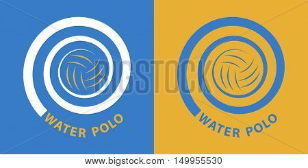 water polo spiral / Water polo icon in two various coloring. Vector image for sports design.
