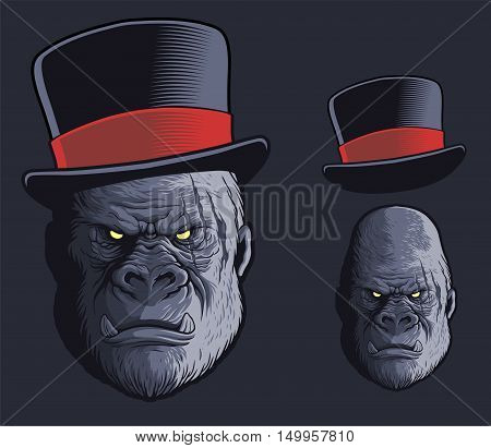 Gorilla vector with optional replacable top hat