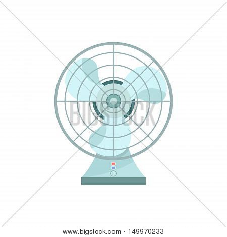 Fan icon illustration, flat icon fan or ventilator