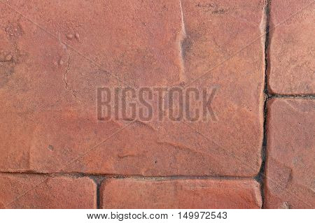 Red granite floor abstract texture and background.