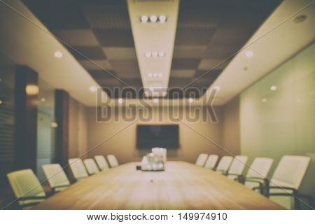 Defocus Background Empty Modern Meeting Room Interior