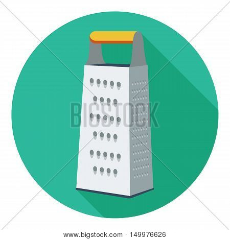Grater icon in flat style isolated on white background. Kitchen symbol vector illustration.