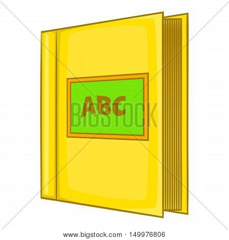 Abc book icon in cartoon style isolated on white background vector illustration