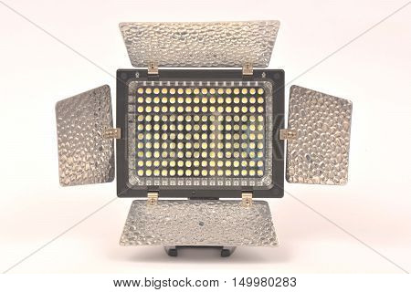 LED Video Light on white background .