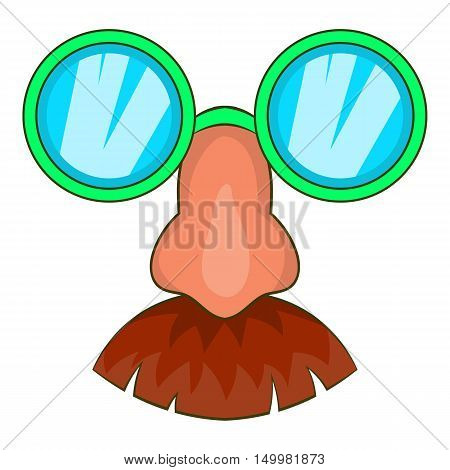 Disguise mask icon in cartoon style isolated on white background vector illustration