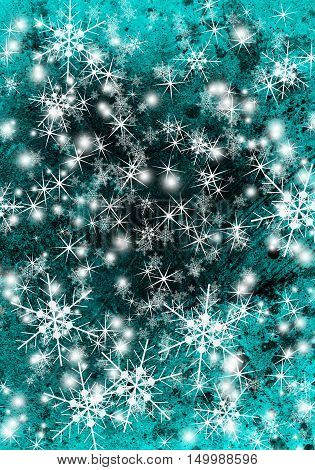 Christmas background with snowflakes. Abstract winter background