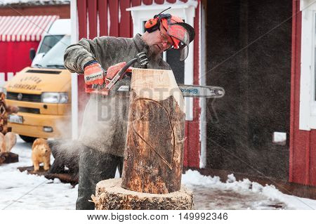 Master Sculptor With A Chainsaw