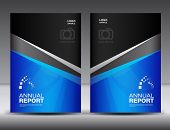 Blue Cover design, annual report ,business brochure flyer ,magazine cover, book cover, booklet , presentation template layout poster