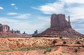 Buttes and mesas in Monument Valley, Arizona, Utah poster