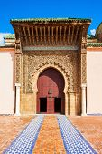 The Mausoleum of Moulay Ismail in Meknes in Morocco. Mausoleum of Moulay Ismail is a tomb and mosque located in the Morocco city of Meknes. poster