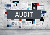Audit Compliance Evaluation Financial Statement Concept poster