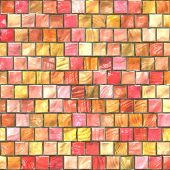Colorful tiles pattern ceramic seamless background wallpaper poster