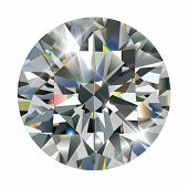 Diamond isolated on white, realistic vector illustration. poster