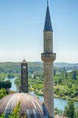 Hajji Alija Mosque at Pocitelj, Bosnia and Herzegovina poster