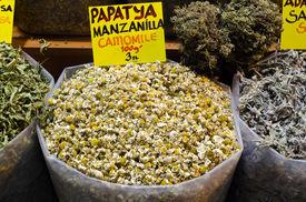Camomile Tea In Egyptian Spice Bazaar