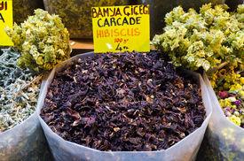 Hibiscus Tea In Egyptian Spice Bazaar