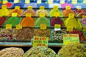 Spice And Tea Shop In Egyptian Spice Bazaar