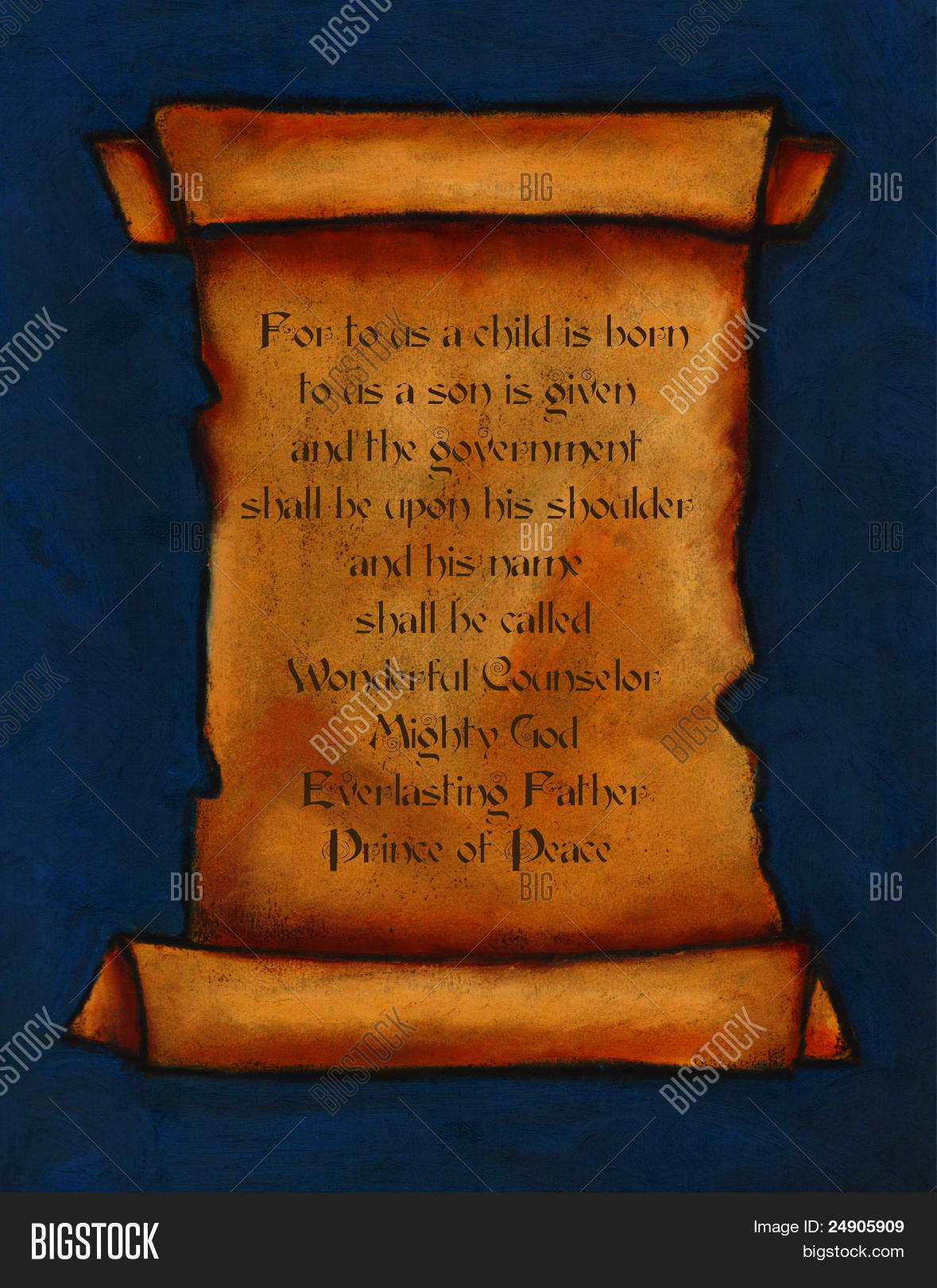Painting Of Old Scroll Bible Verse