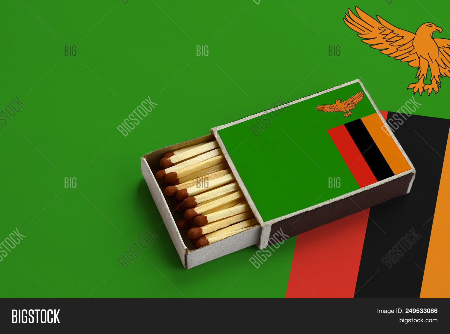 Zambia Flag Shown Open Image & Photo (Free Trial) | Bigstock