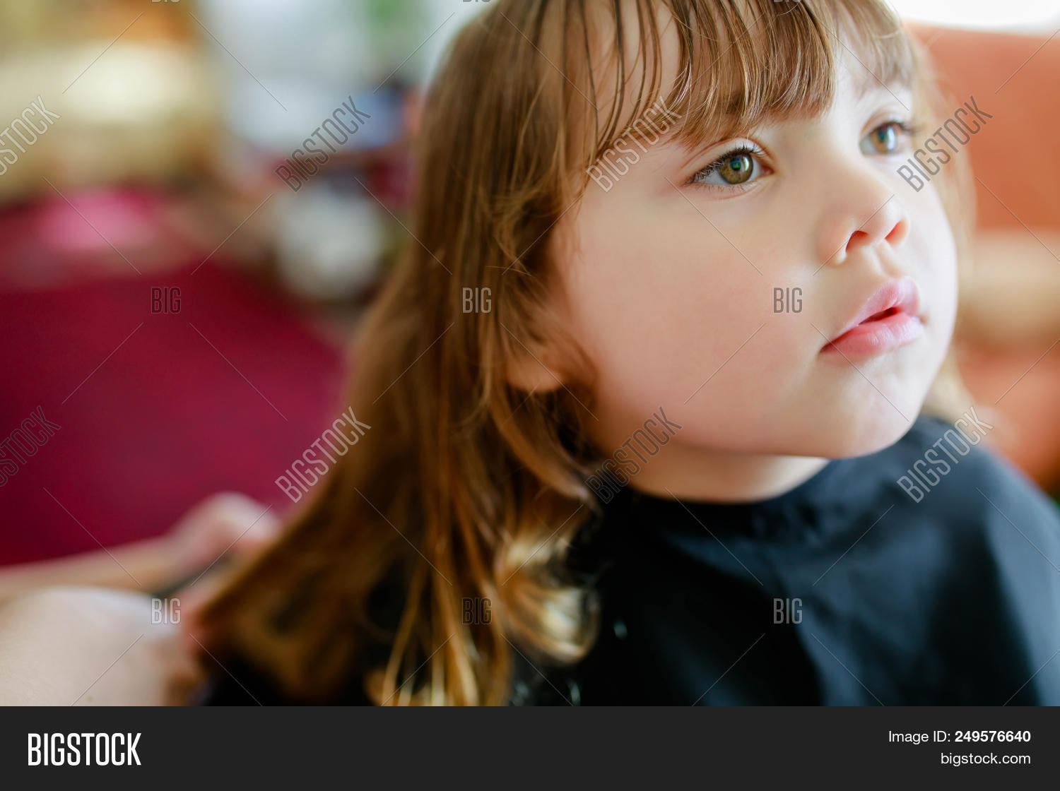 Little Blonde Curly Image Photo Free Trial Bigstock