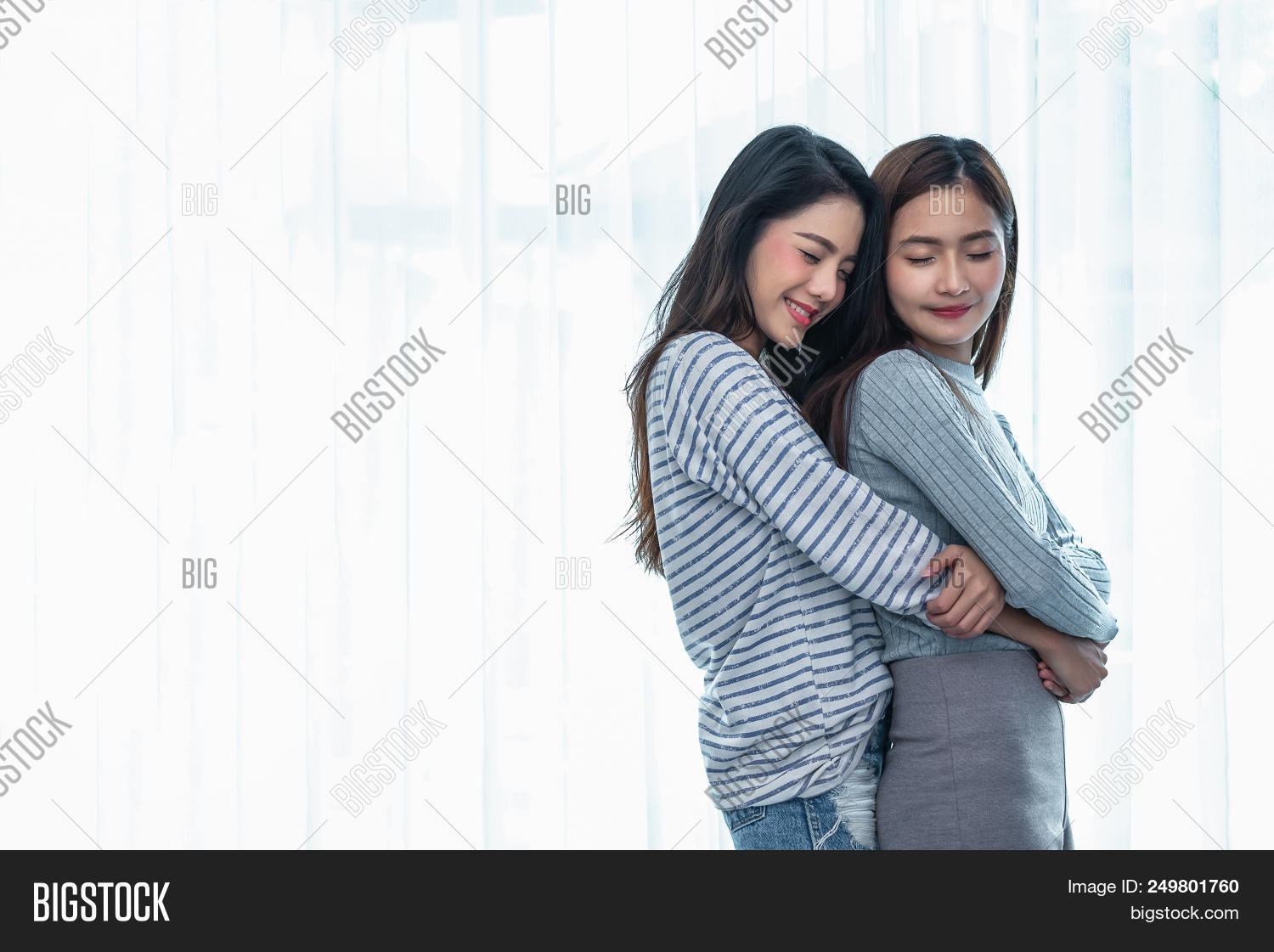 Charming asian lesbian two how that