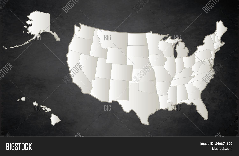 Usa Map Alaska Hawaii Image & Photo (Free Trial) | Bigstock