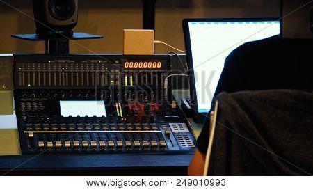 Analog Audio Sound Mixer Controller Panel