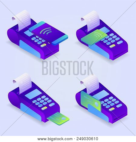 Pos Terminal Payment Vector & Photo (Free Trial) | Bigstock