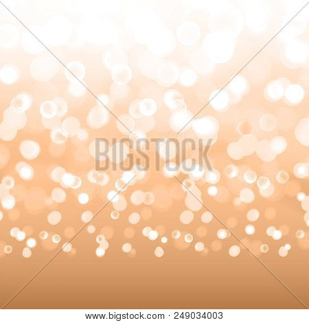Stock Vector Illustration Bokeh Photo Effect. Christmas Light. Blurred New Year Background. Many Lig