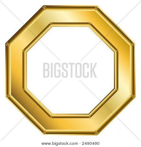 Frame Gold - Octagon 1