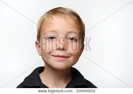 Happy Boy on White