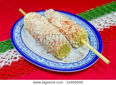 Mexican Corn Dish Known As Elote