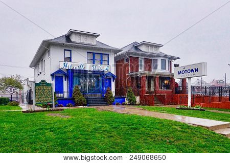 Detroit Mi, Usa, 2018.05.12.: Hitsville Usa Is The Motown Museum In Detroit Mi In The Usa.