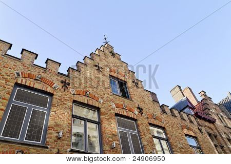 House Wall Bruges Belgium