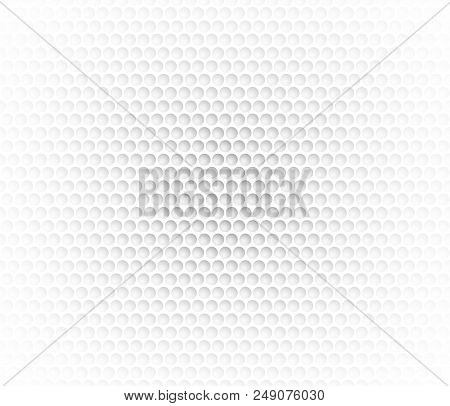 White Abstract Background With Metal Background. Grid Of Round Cells. Background With 3d Effect For