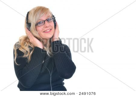 Listening Music With Headset
