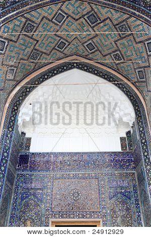 Decorated Arch Of Tilya Kori Madrasah