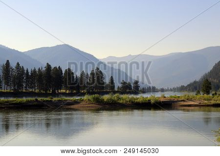 Early Morning At Flathead River In Plains, Mt
