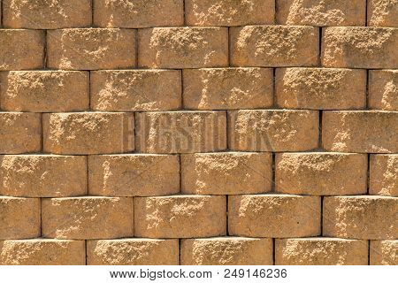 Stone Wall Background, Stone Texture, Rough Surface Of Stone, Close-up Of Blocks In The Masonry, Par