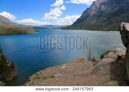 Sun Point At Glacier National Park In Montana