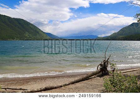 Lake Mcdonald In Glacier National Park In Mt