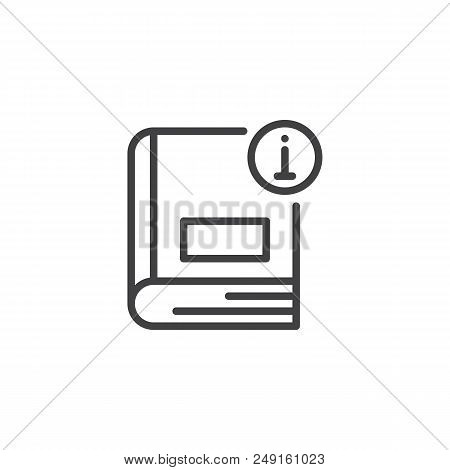 Information Book Outline Icon. Linear Style Sign For Mobile Concept And Web Design. Info Ebook Simpl