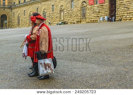 People Wearing Traditional Clothes, Florence, Italy