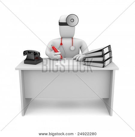Medic at work. Image contain clipping path