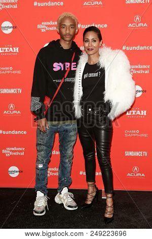 PARK CITY, UT-JAN 21: Jaden Smith and Jada Pinkett Smith attend the