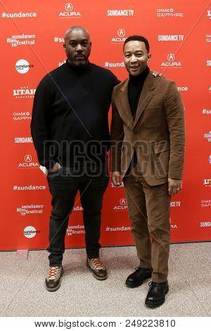PARK CITY, UT-JAN 21: Mike Jackson (L) and John Legend attend the