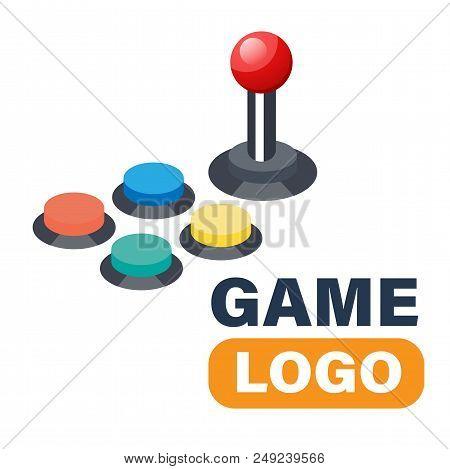 Game Logo Joystick Controller Directional Pad Vector Image